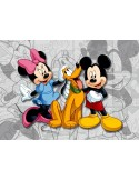 Fotomural MINNIE & MICKEY ON GREY FTD-0284