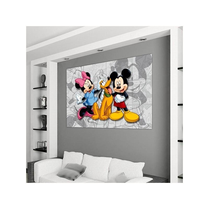 Mural Infantil Disney Minnie y Mickey Mouse