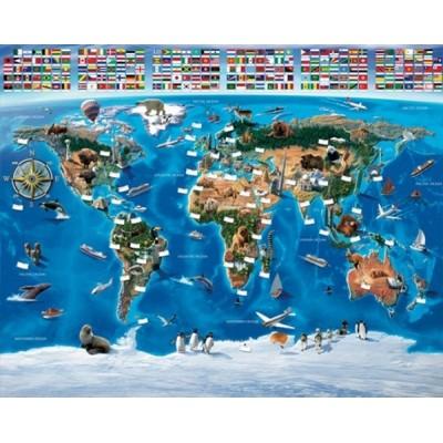 Fotomural Infantil MAP OF THE WORLD