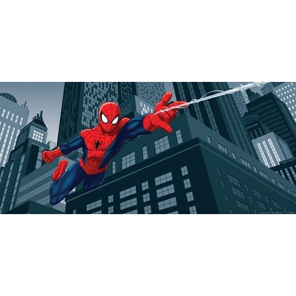 Fotomural SPIDERMAN ON CITY AT NIGHT