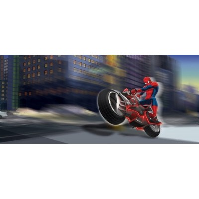 Fotomural SPIDERMAN ON BIKE