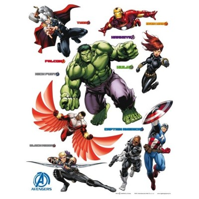 STICKER MARVEL THE AVENGERS GROUP DK-1719