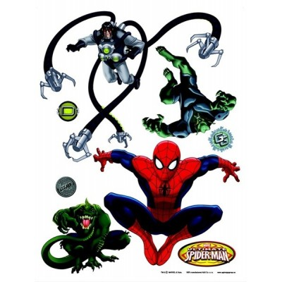 STICKER MARVEL SPIDER AGAINST VILLAINS DK-1712
