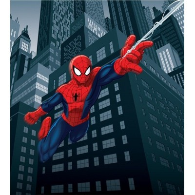 Fotomural SPIDERMAN ON CITY AT NIGHT FTDL-1921