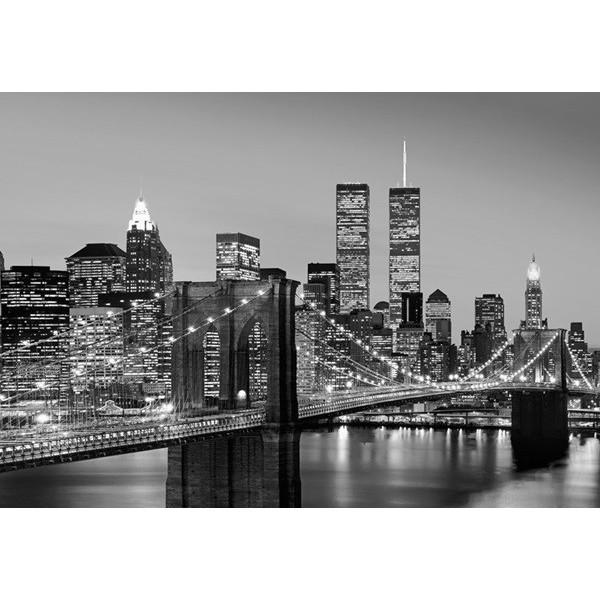 Fotomural MANHATTAN SKYLINE AT NIGHT