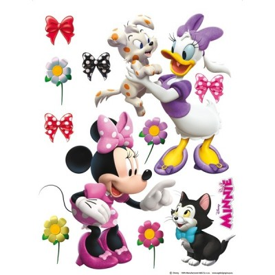 STICKER DISNEY MINNIE & DAISY PLAYING DK-1768