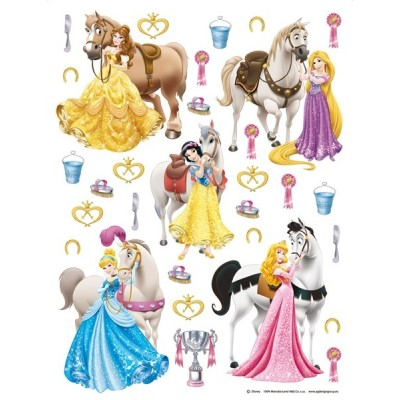 STICKER DISNEY PRINCESS WITH HORSES DK-1773
