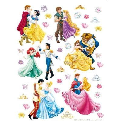 STICKER DISNEY PRINCESS WITH PRINCES DK-1774