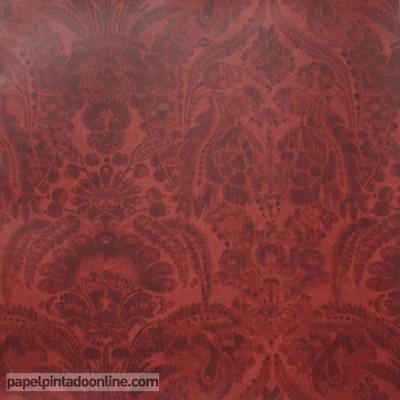 Papel pintado MUSEUM KEW RED