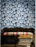 Papel de parede MUSEUM CARGO BLUE WHITE