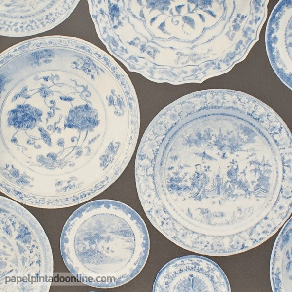 Papel pintado MUSEUM CARGO BLUE GREY