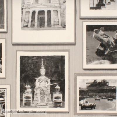 Papel de parede MUSEUM STUDIO GREY
