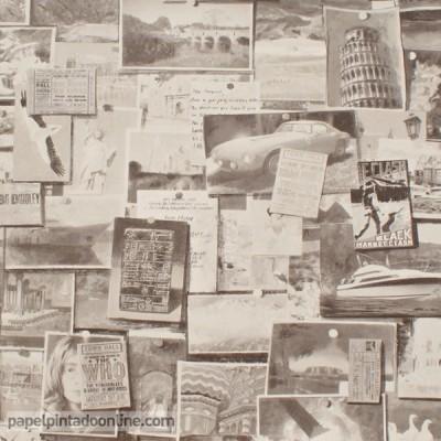 Papel de parede MUSEUM PINBOARD CHARCOAL