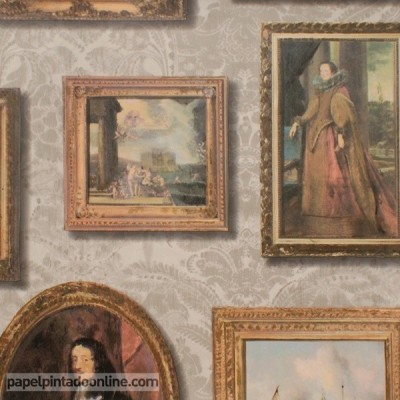 Papel de parede MUSEUM GALLERY TAUPE