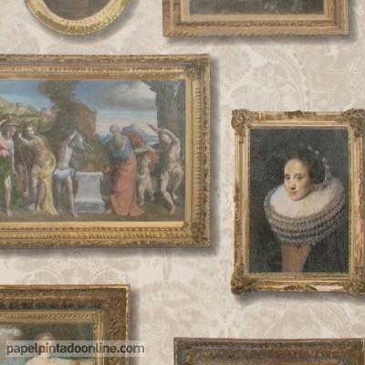 Papel de parede MUSEUM GALLERY NEUTRAL