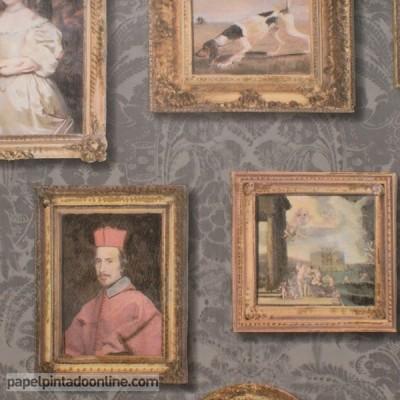 Papel de parede MUSEUM GALLERY CHARCOAL