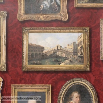 Papel pintado MUSEUM GALLERY RED