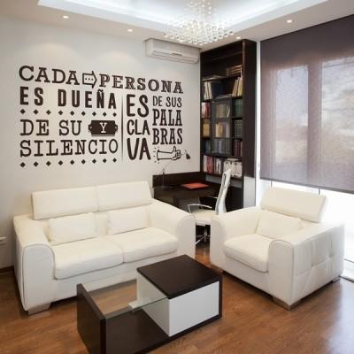 Vinilo Decorativo Textos TE021