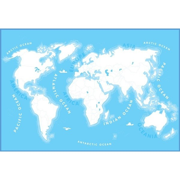 Fotomural W2PL KIDS MAP 001