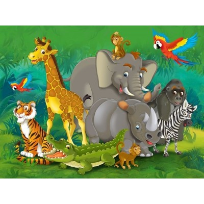Fotomural infantil JUNGLE ANIMALS FT-1460