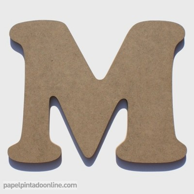 Letra de Madera M