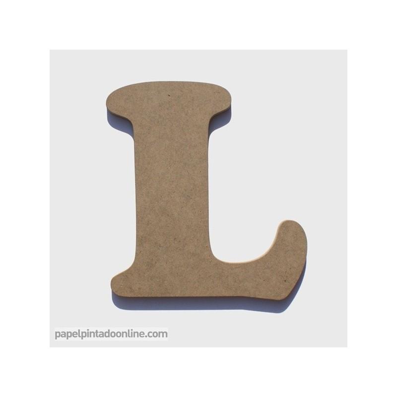 Letra de madera L para decoración, 20 CM
