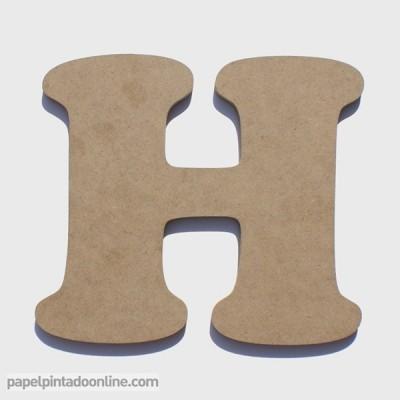 Letra de Madeira H