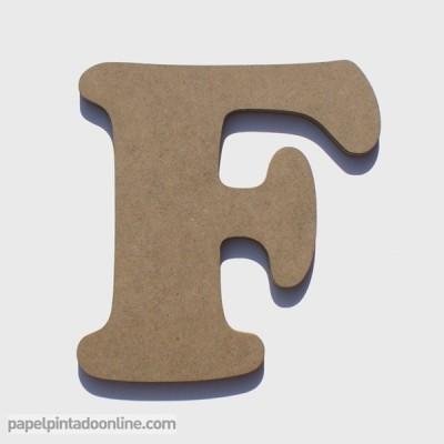Letra de Madeira F
