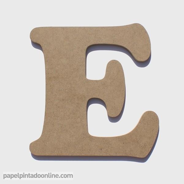 Letra de Madera E
