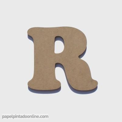 Letra de Madeira R