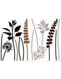 Sticker Grasses Brown-Black 74111