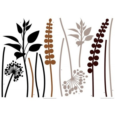 Sticker Grasses Brown-Black 74111