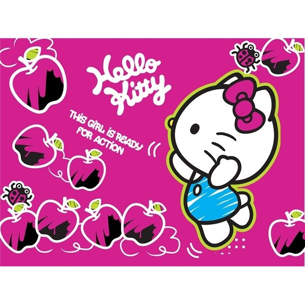 Fotomural HELLO KITTY READY FOR ACTION FT-1474