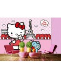 Fotomural HELLO KITTY PARIS FTS-1325