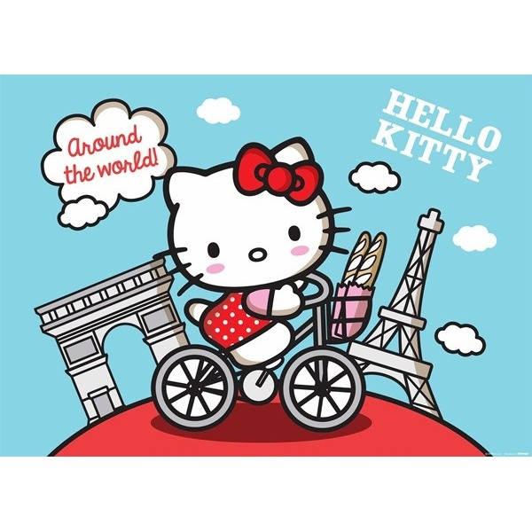 Fotomural HELLO KITTY AROUND THE WORLD FTM-0856