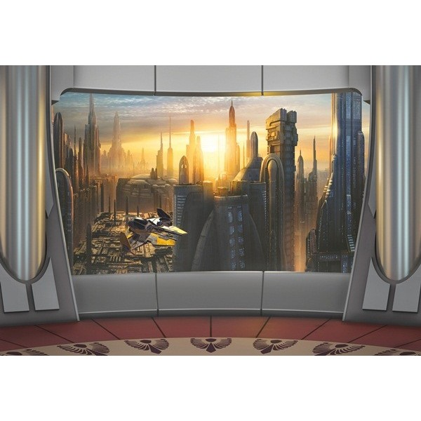 Fotomural STAR WARS CORUSCANT VIEW 8-483