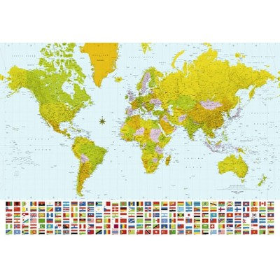 Fotomural MAP OF THE WORLD
