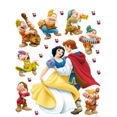 STICKER DISNEY SNOW WHITE & PRINCE DK-880