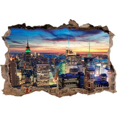 Vinilo Decorativo 3D NUEVA YORK DE NOCHE V3DA013