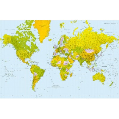 Fotomural MAP OF THE WORLD 624