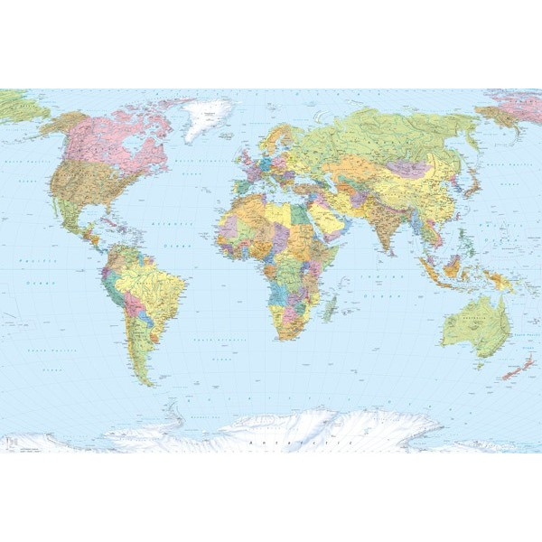 Fotomural WORLD MAP XXL4-038