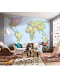 Fotomural WORLD MAP XXL4-038