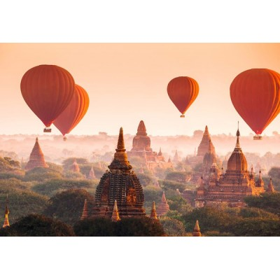 Fotomural BALLONS OVER BAGAN
