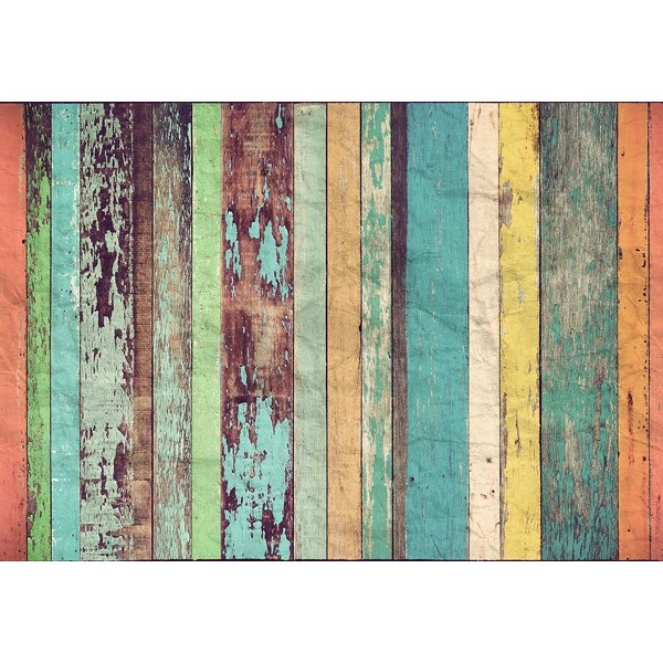 Fotomural COLORED WOODEN WALL