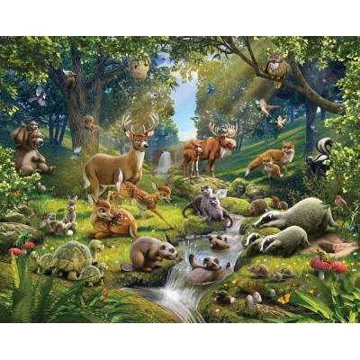 Fotomural Infantil ANIMALS OF THE FOREST