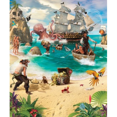 Fotomural Infantil PIRATE AND TREASURE