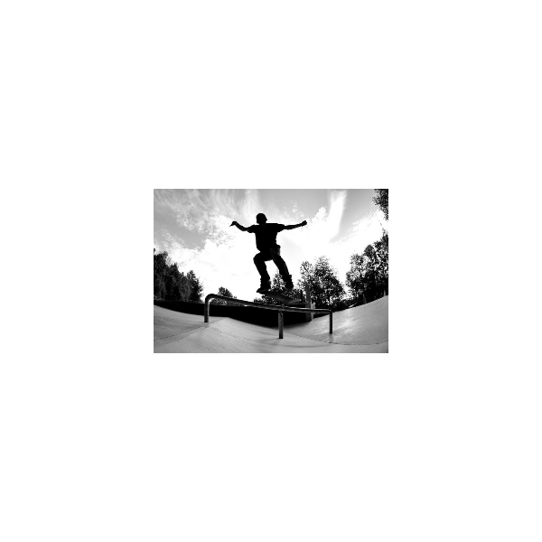Fotomural Skate FDE006, 100cm. x 70cm., Vinilo Autoadhesivo Mate, Todo Color, Invertir, 0x0x0x0 cm.
