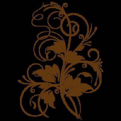 Vinilo Decorativo Floral FL019, Grande, Marron 8282-01, Invertir