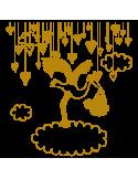 Vinilo Decorativo Infantil IN107, Pequeño, Oro 8278-00, Invertir