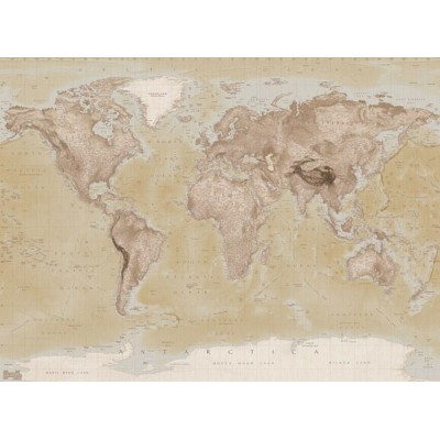 Fotomural W4PL NEUTRAL MAP 001